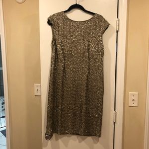 J. Crew Collection Gold Sequin Dress